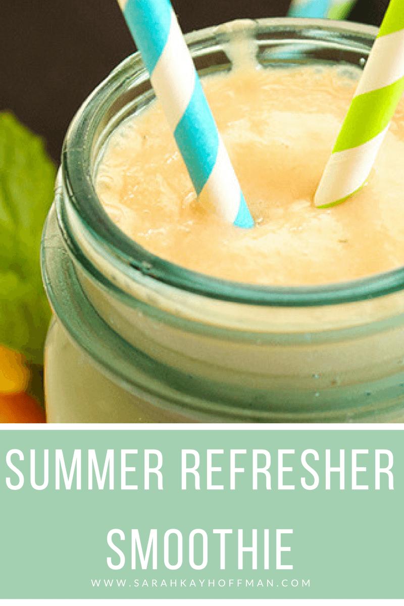 7-Day Smoothie Challenge www.sarahkayhoffman.com Summer Refresher Smoothie Vegan