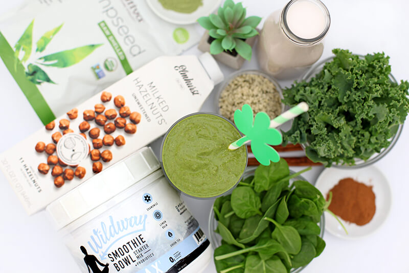 Boosted Green Smoothie www.sarahkayhoffman.com gluten free dairy free