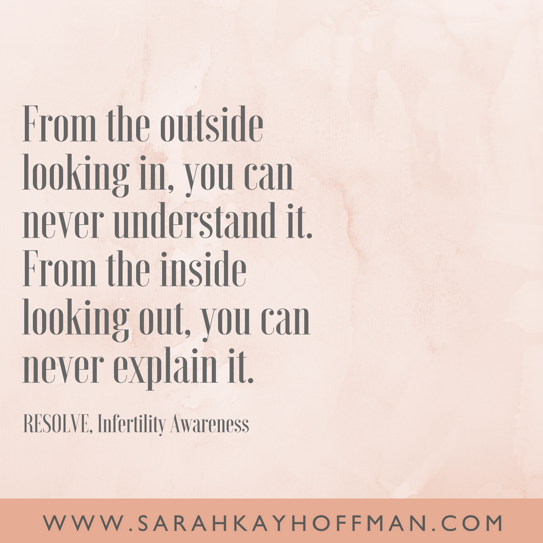 Flipping the Script on Infertility www.sarahkayhoffman.com foster adoption infertile quote quotes
