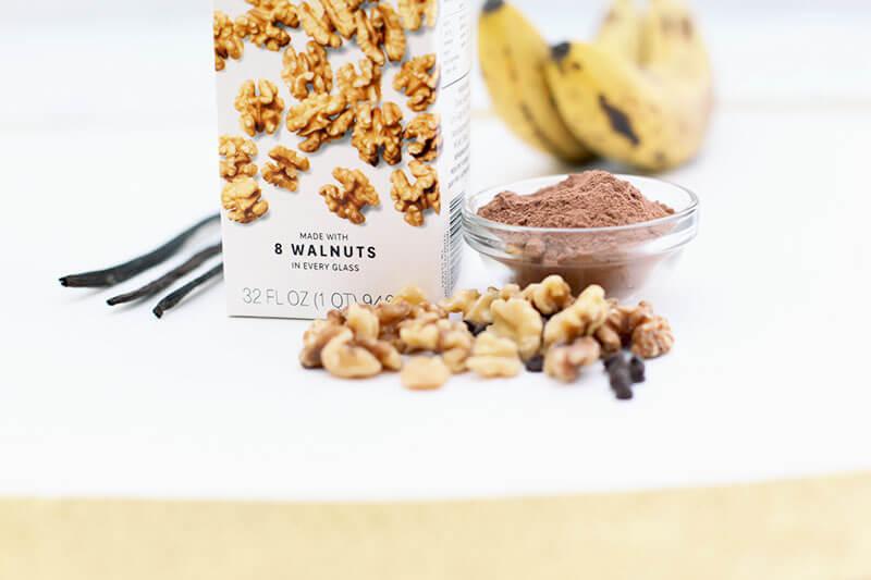 Low-FODMAP Chunky Monkey Nice Cream www.sarahkayhoffman.com Elmhurst Milked Walnuts