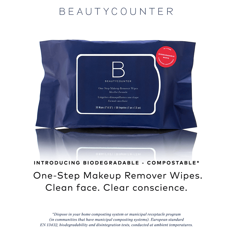 One Step Makeup Remover Wipes www.sarahkayhoffman.com Beautycounter