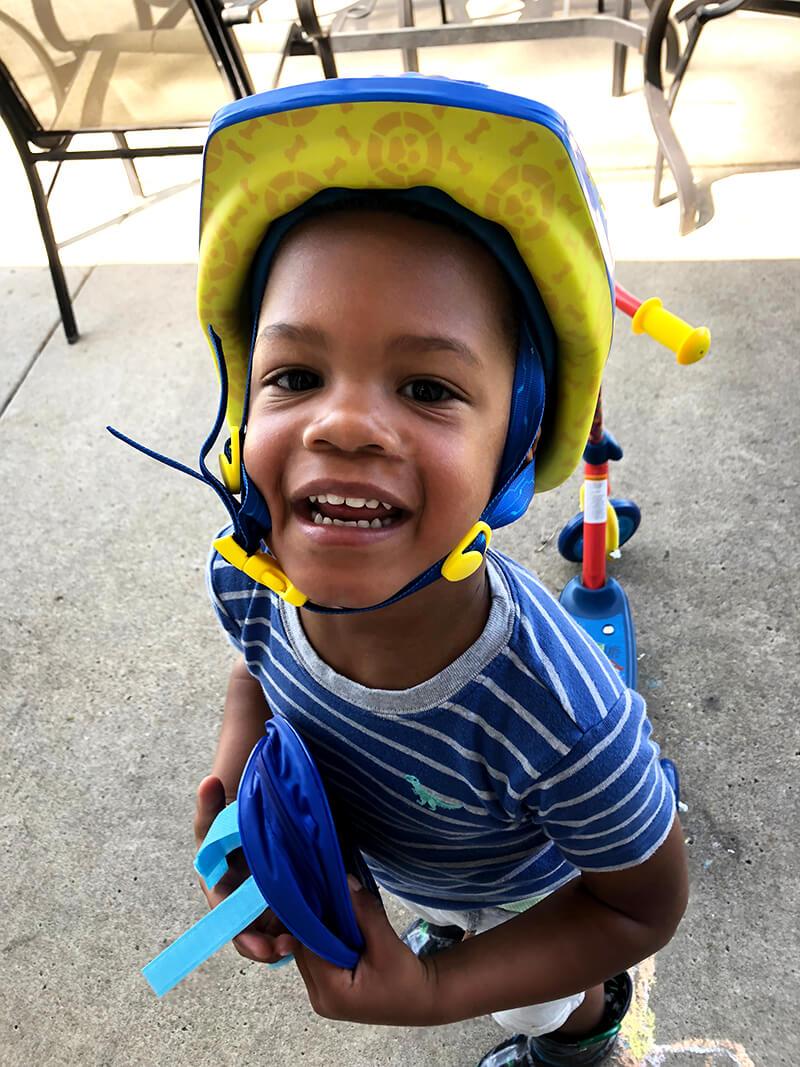Happy Birthday, Isaiah {You are Three} www.sarahkayhoffman.com Isaiah helmet bike