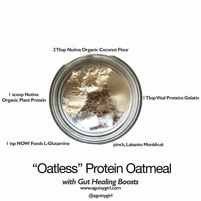 Oatless Protein Oatmeal www.sarahkayhoffman.com gut-healing
