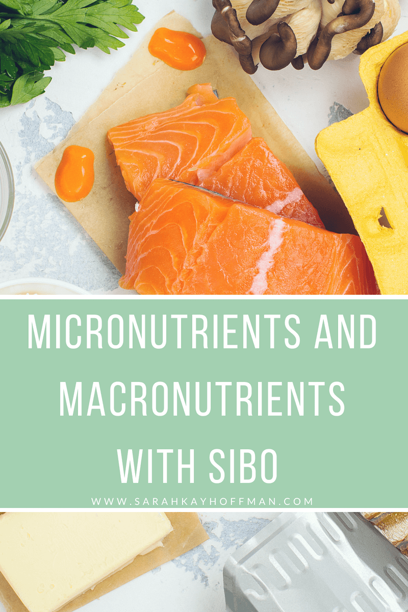 Micronutrients and Macronutrients with SIBO www.sarahkayhoffman.com #guthealth #macronutrients #SIBO #healthyliving