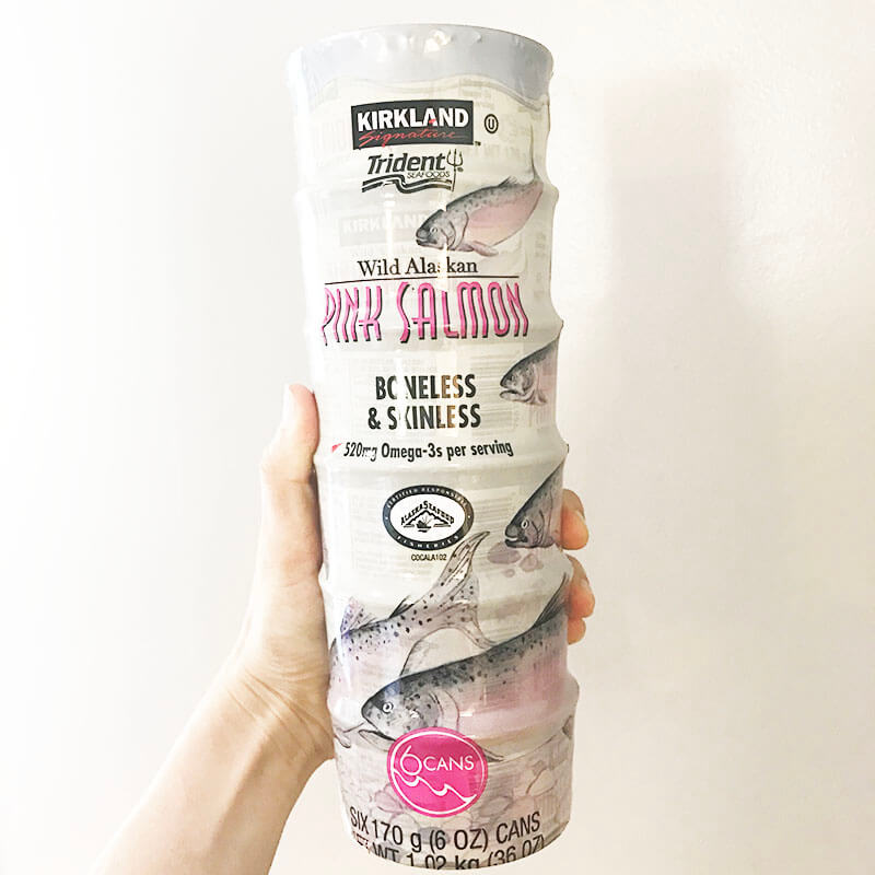 My Costco Grocery Cart www.sarahkayhoffman.com #groceryshopping #healthyliving #costco Wild Alaskan Pink Salmon