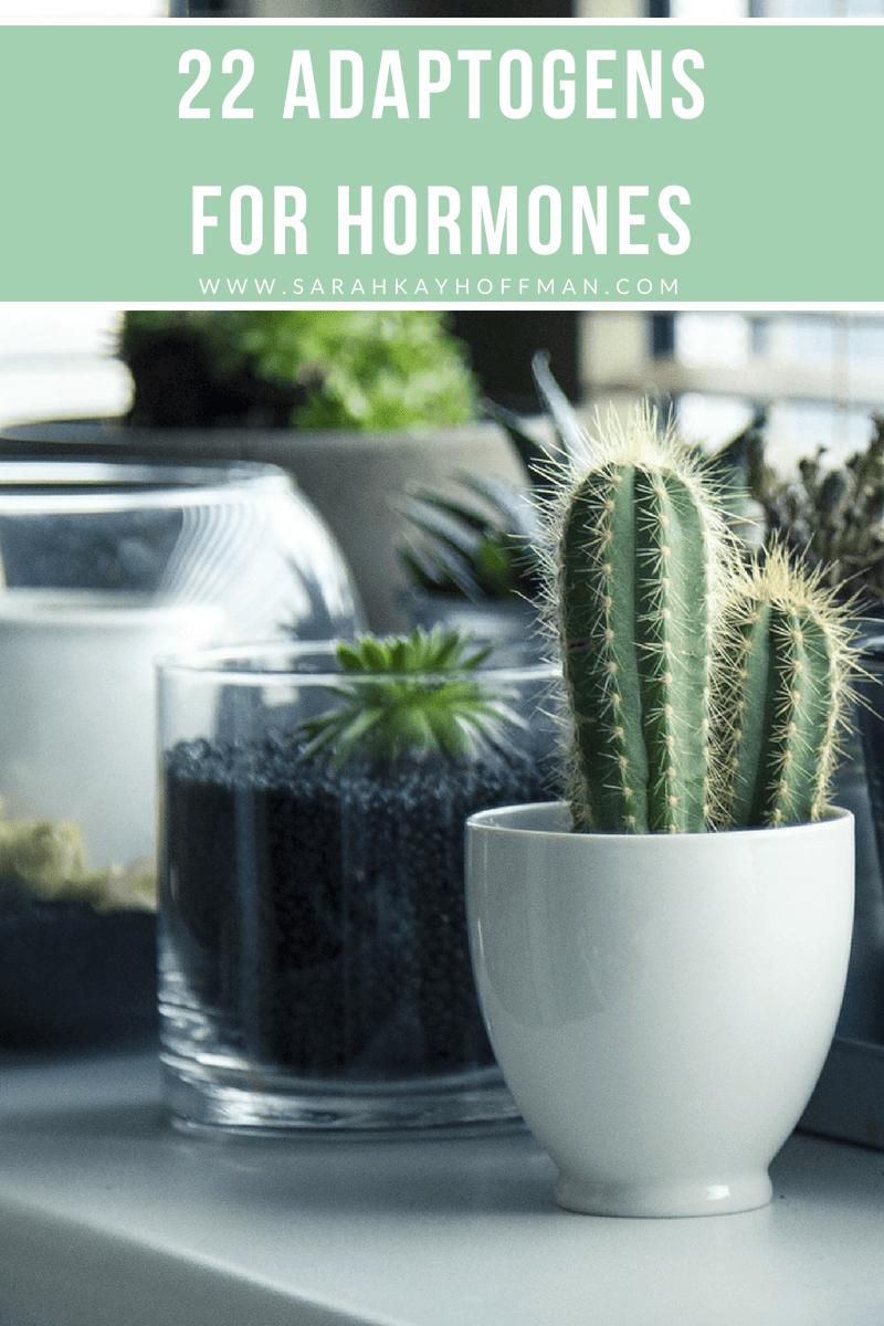 22 Adaptogens for Hormones www.sarahkayhoffman.com #healthyliving #guthealth #hormones #skincare