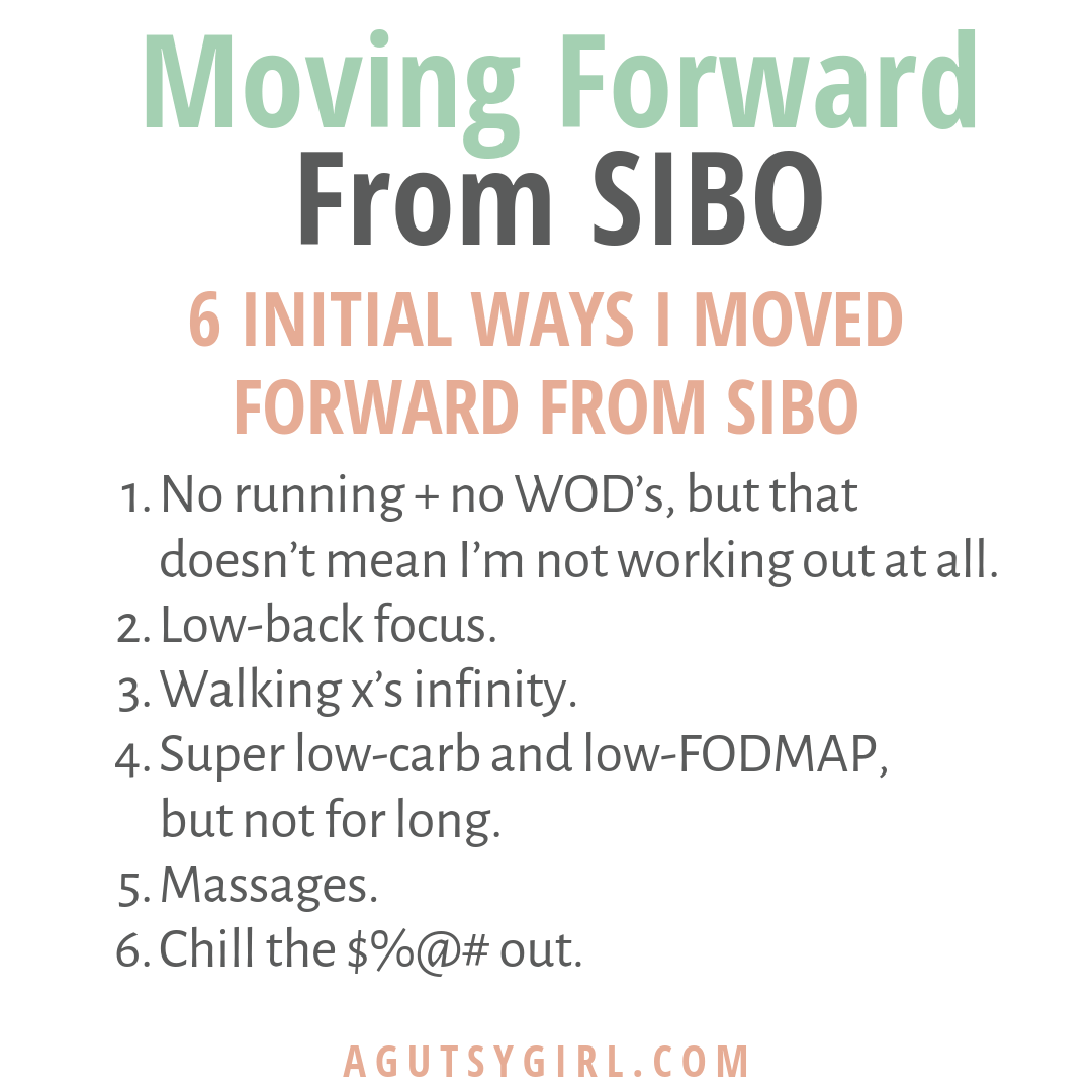 6 Ways I Moved Forward from SIBO agutsygirl.com IBS #IBS #SIBO #guthealing