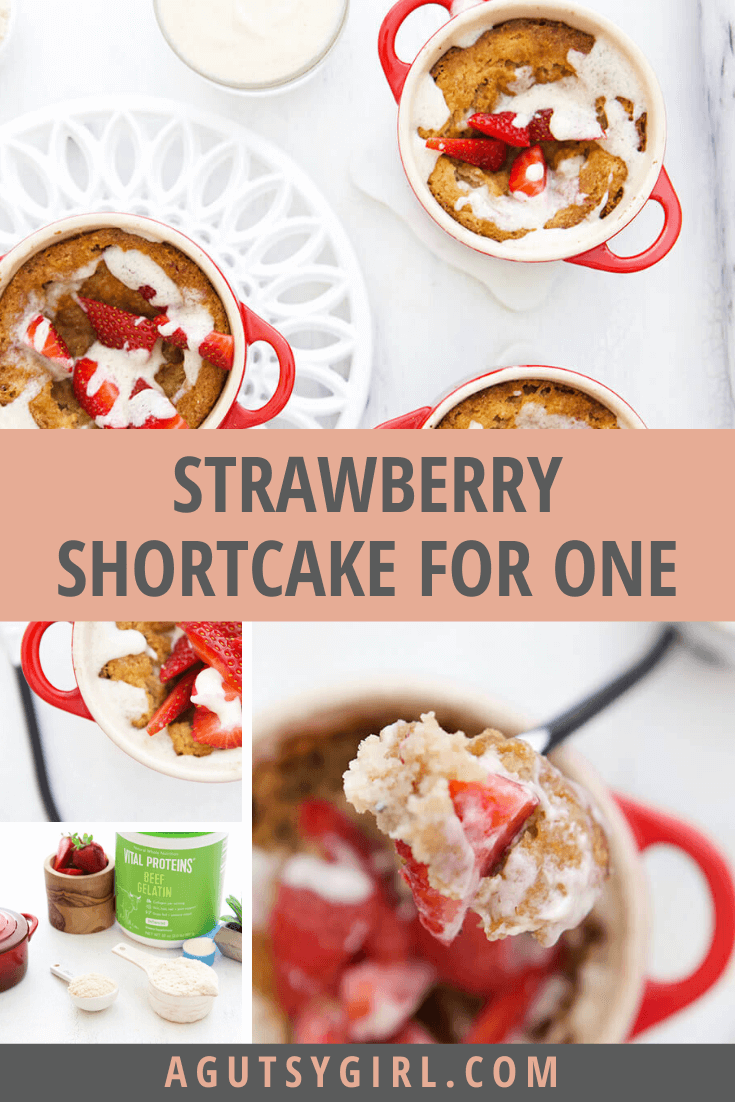 Paleo Strawberry Shortcake for One agutsygirl.com #glutenfree #Paleo #dairyfree #lowcarbrecipes Low Carb Recipes