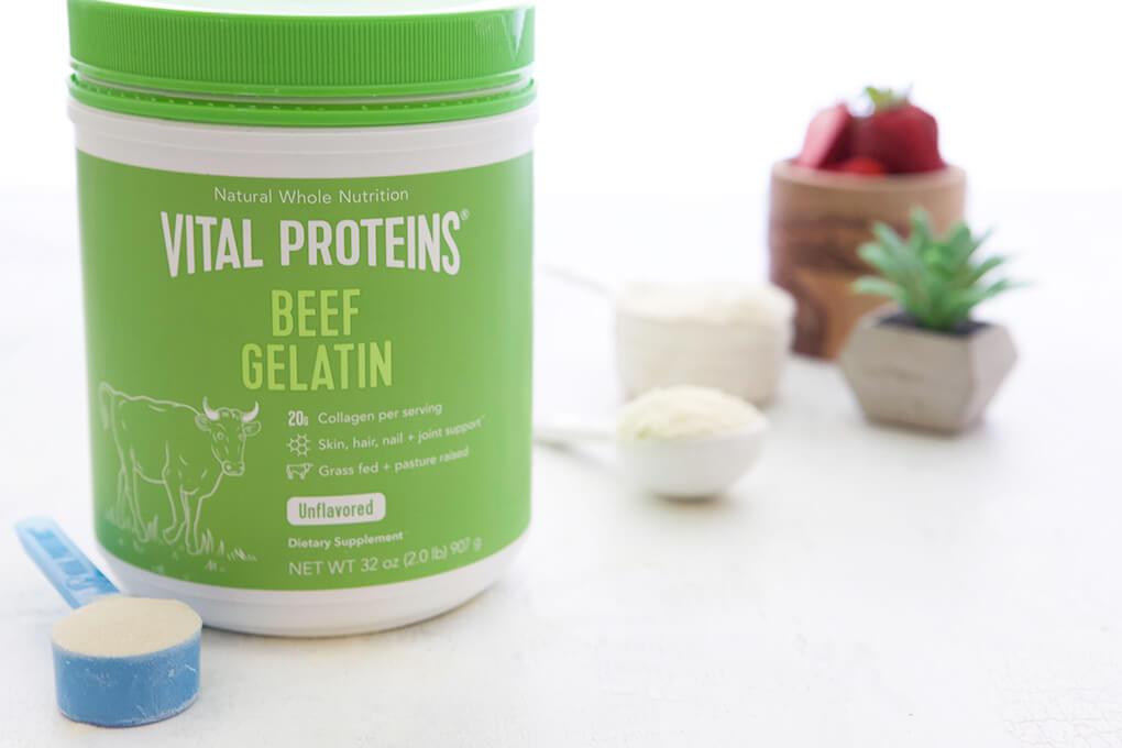 Strawberry Shortcake for One www.sarahkayhoffman.com #paleo #lowfodmap #healthyliving #recipe Vital Proteins Gelatin #guthealth