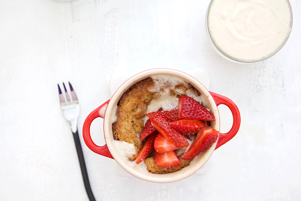 Strawberry Shortcake for One www.sarahkayhoffman.com #paleo #lowfodmap #healthyliving #recipe #dessert