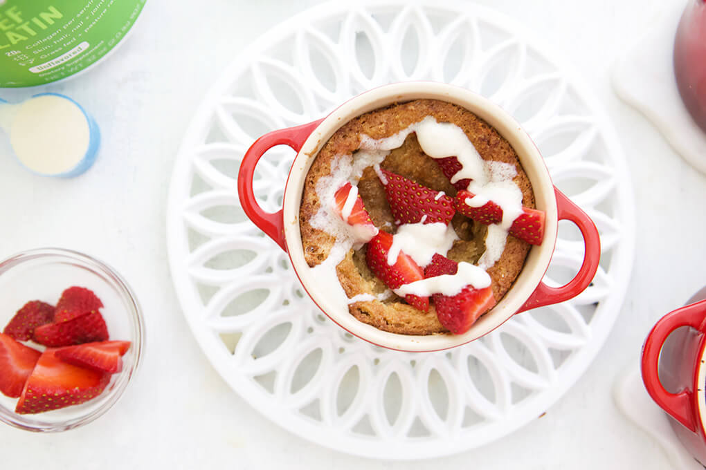 Strawberry Shortcake for One www.sarahkayhoffman.com #paleo #lowfodmap #healthyliving #recipe mug cake #mugcake