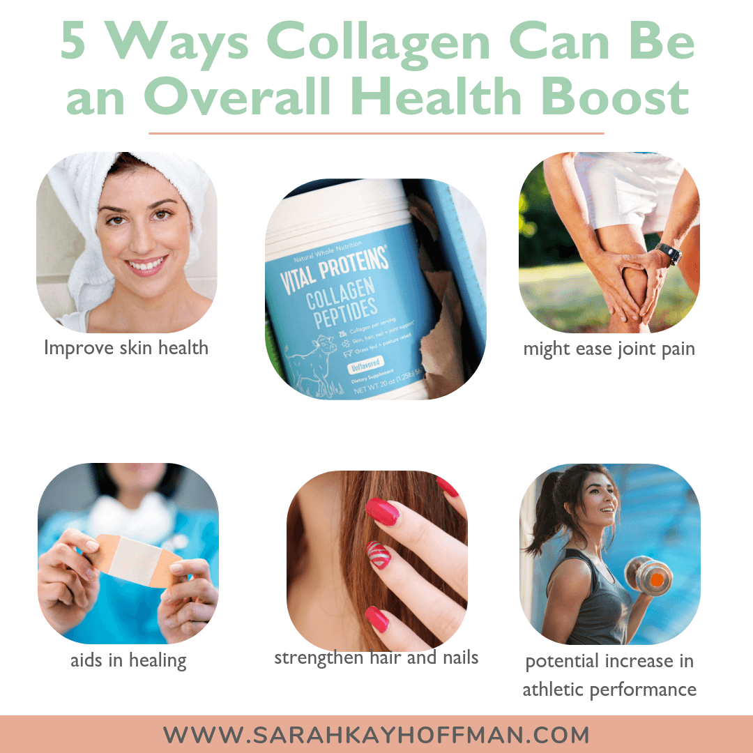 5 Ways Collagen Can be an Overall Health Boost Stay Vital www.sarahkayhoffman.com #collagen #stayvital #guthealth #healthyliving
