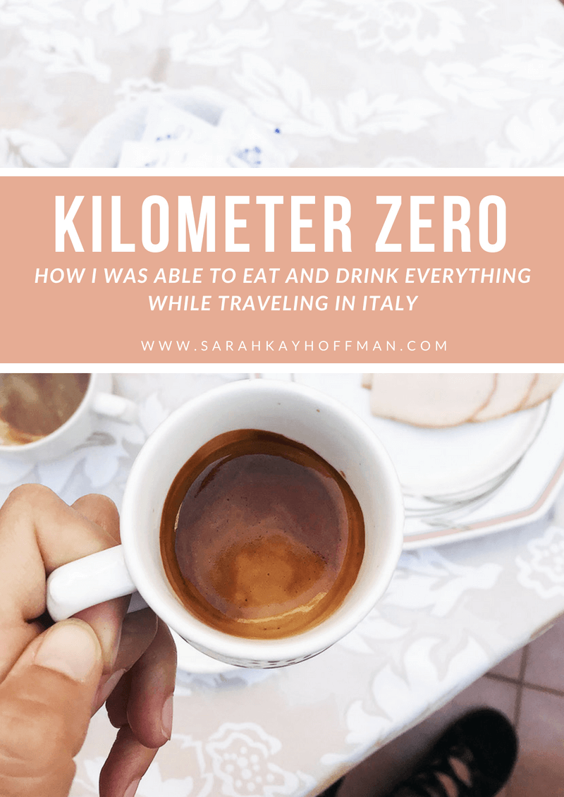 Kilometer Zero www.sarahkayhoffman.com How I ate everything in Italy #healthyliving #guthealth #italy #travel #lifestyleblogger