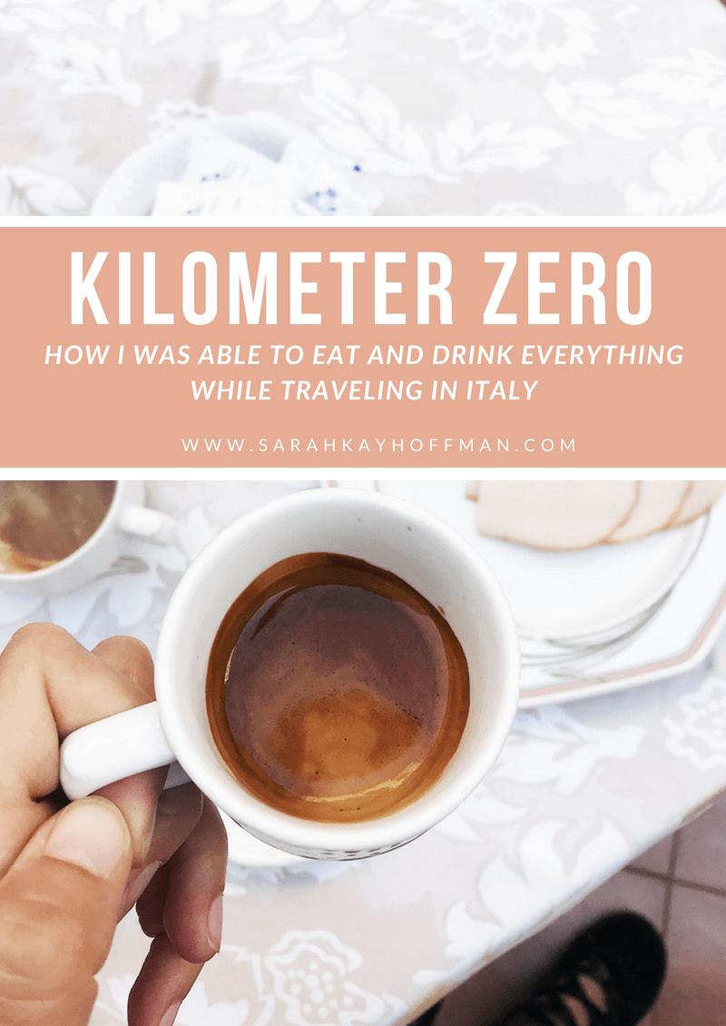 Kilometer Zero www.sarahkayhoffman.com How I ate everything in Italy #healthyliving #guthealth #italy #travel #lifestyleblogger