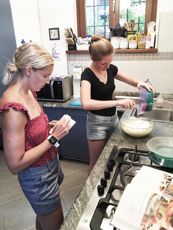 Kilometer Zero www.sarahkayhoffman.com SKH and Ceci making Tiramisu #tiramisu #travel #italy #glutenfree
