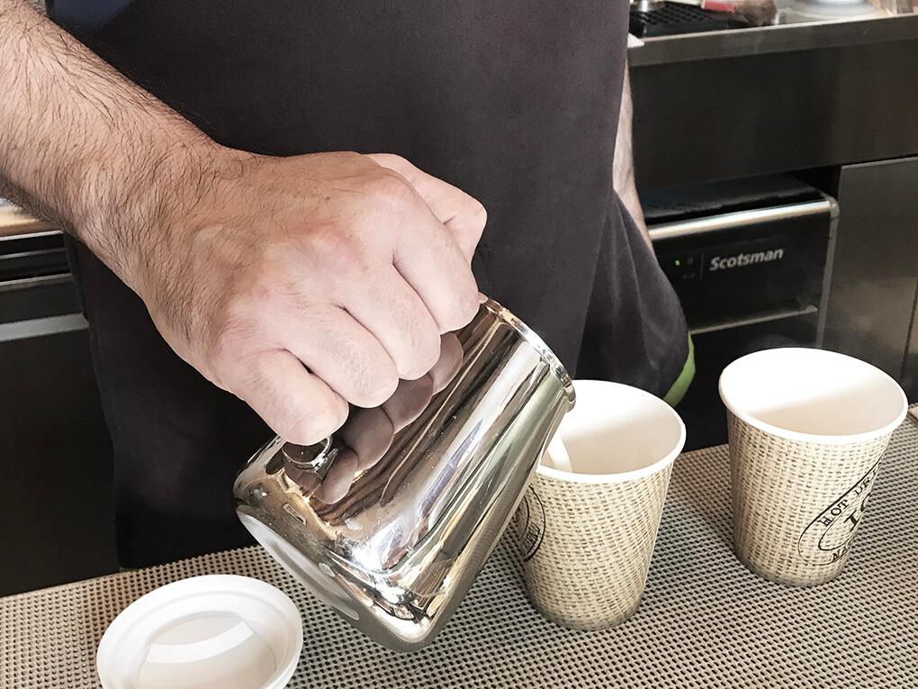 Kilometer Zero www.sarahkayhoffman.com lattee coffee Italy #coffee #travel #italy #glutenfree