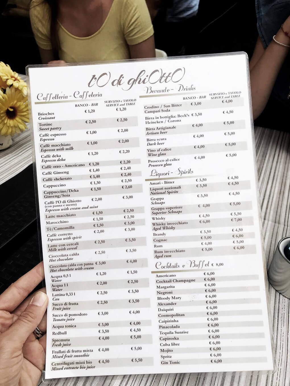 Kilometer Zero www.sarahkayhoffman.com menu #travel #italy #glutenfree