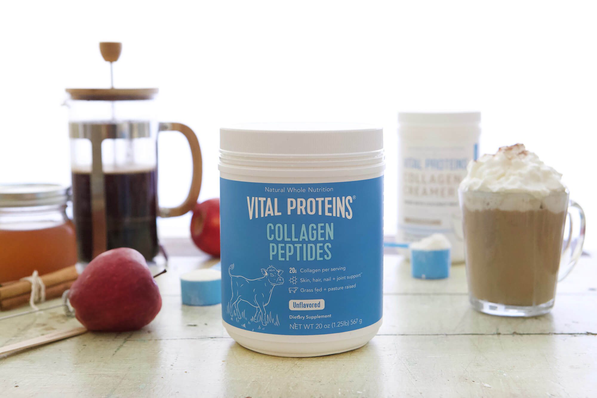 Apple Cider Latte www.sarahkayhoffman.com Vital Proteins fall #collagen #healthyliving #guthealth #Paleo #latte #healthyrecipes