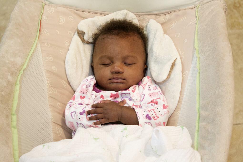 Firsts with Us www.sarahkayhoffman.com Amiya Gotcha Day Anniversary sleeping Maya #gotchaday #fosteradoption #adoption #fostercare