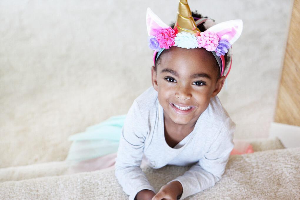 Happy Birthday, Samarah {This is Five} www.sarahkayhoffman.com Unicorn headband #lifestyleblogger #birthday