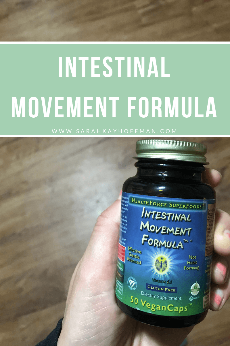 Intestinal Movement Formula www.sarahkayhoffman.com #digestivehealth #supplements #guthealth #ibs #healthyliving