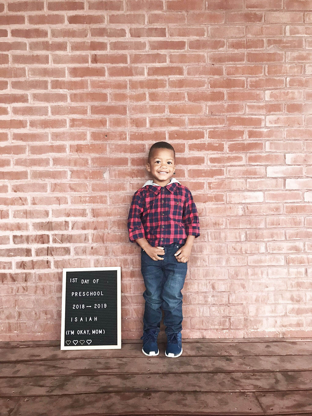 Preschool Mom www.sarahkayhoffman.com Isaiah first day #preschool #lifestyleblogger #firstdayofschool