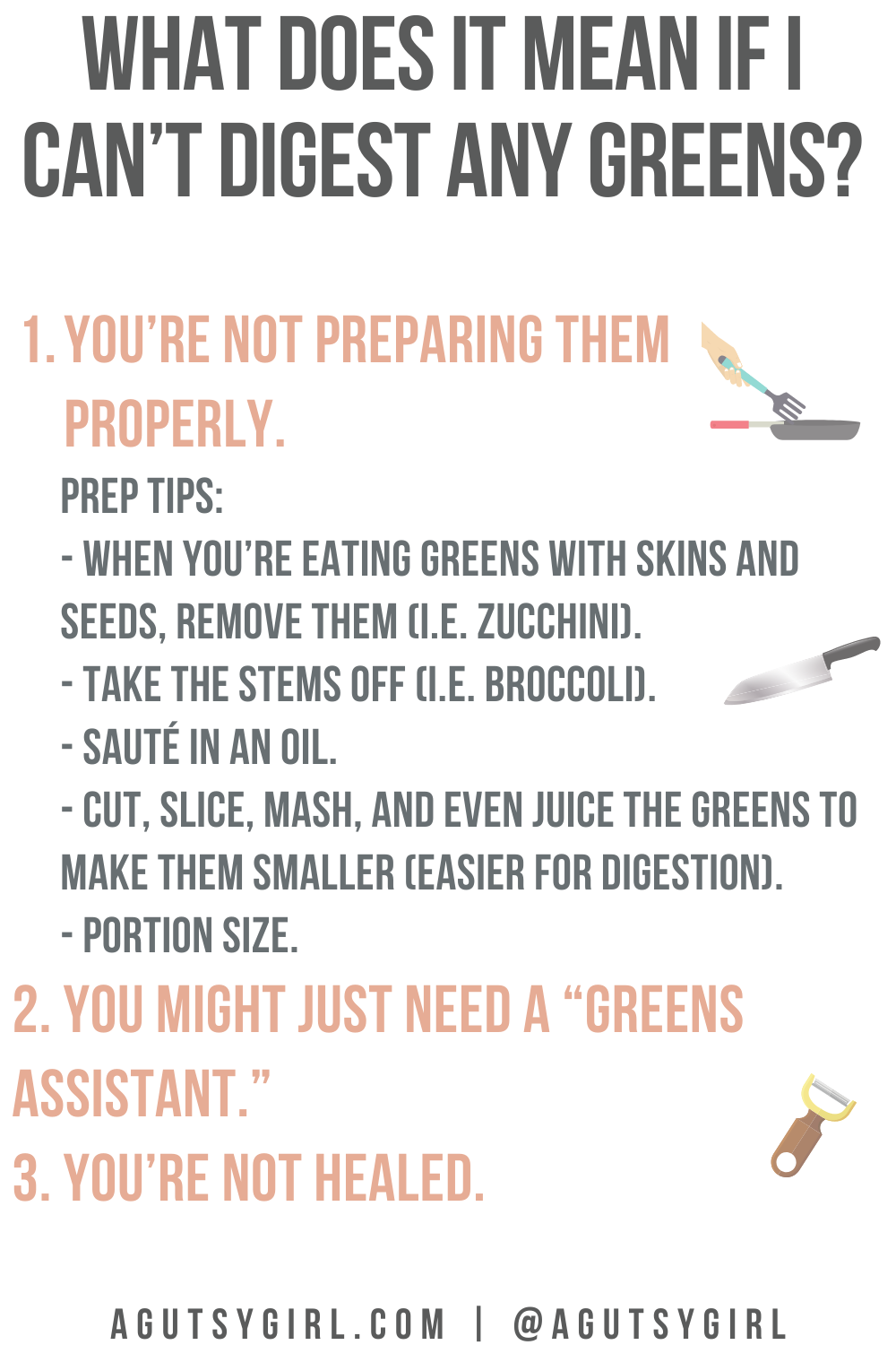 What Does it Mean if I Can't Digest Any Greens? agutsygirl.com truth green #rawvegetables #guthealth #greens