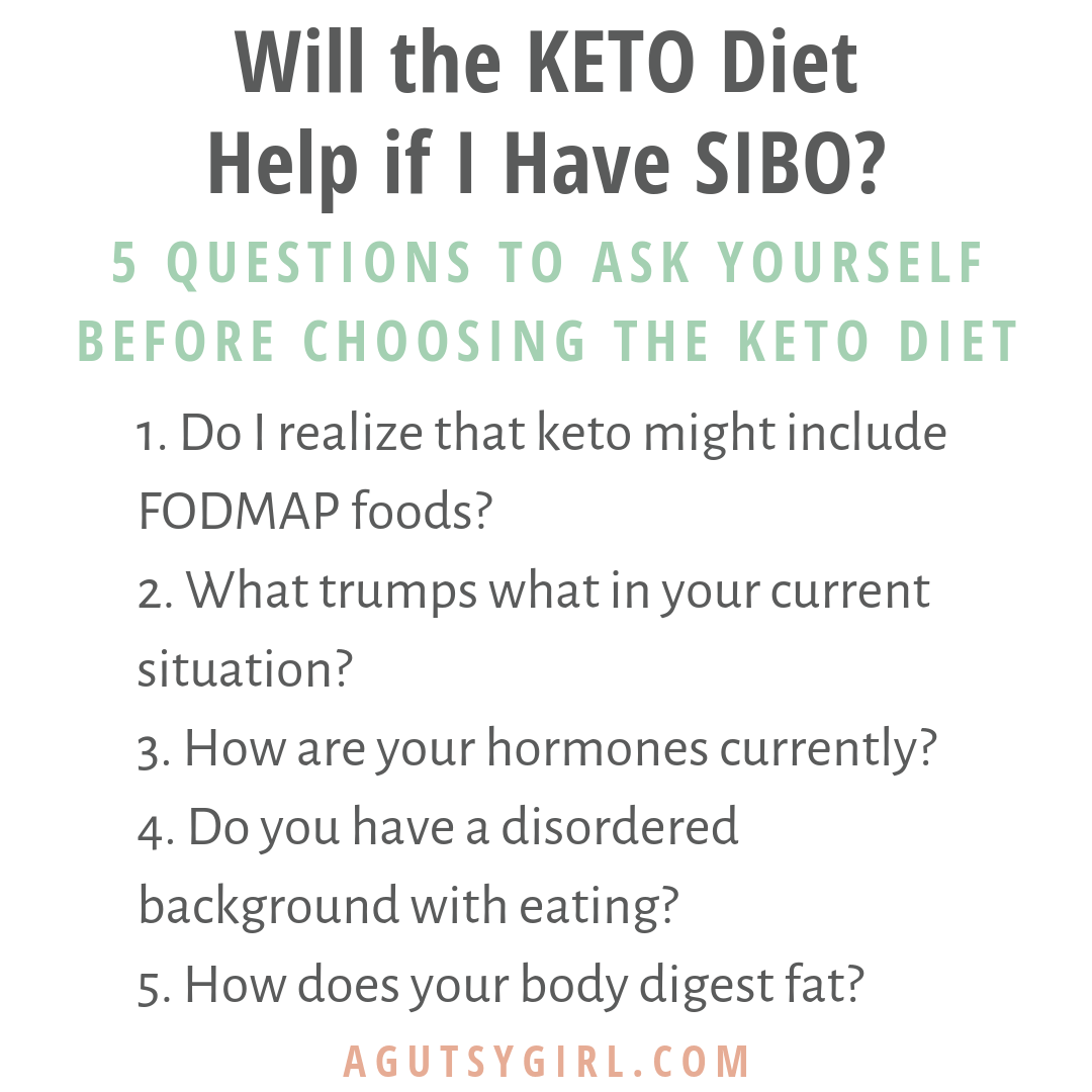 Will the KETO Diet Help if I Have SIBO agutsygirl.com #keto #SIBO #guthealth