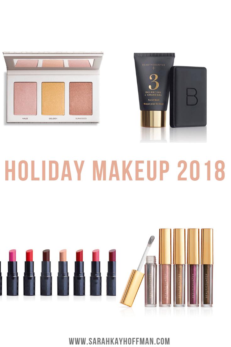 Holiday Makeup 2018 Beautycounter Skincare www.sarahkayhoffman.com #makeup #beautycounter #betterbeauty #eyeshadow #holidaygifts