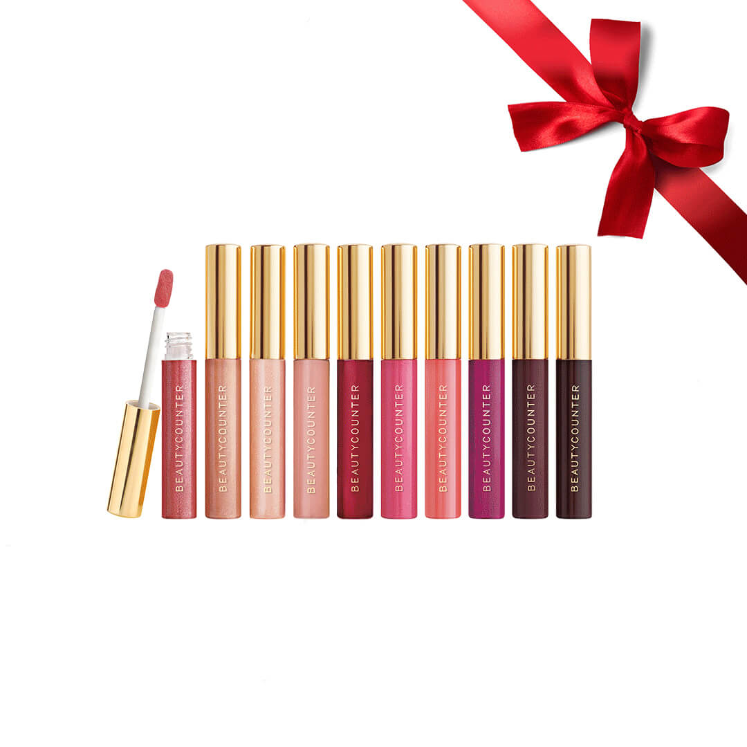 Holiday Makeup 2018 Beautycounter Skincare www.sarahkayhoffman.com #makeup #beautycounter #betterbeauty #lipgloss #holidaygifts Mini Lipgloss Vault