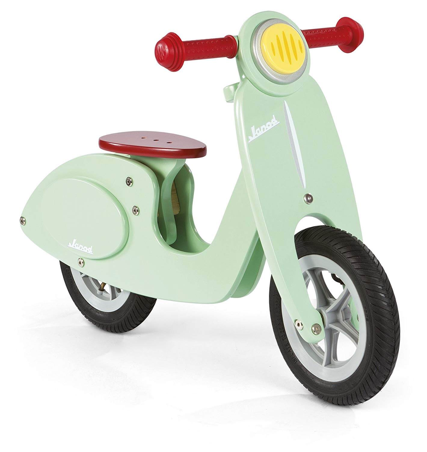 34 Holiday GiftIdeas for Babies and Toddlers www.sarahkayhoffman.com #holidaygift #toddler #gifts #holiday Janod Scooter Mint Balance Bike