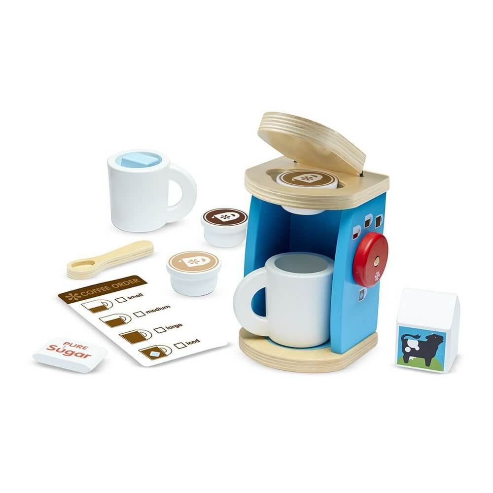 34 Holiday GiftIdeas for Babies and Toddlers www.sarahkayhoffman.com #holidaygift #toddler #gifts #holiday Melissa and Doug Coffee Maker Set