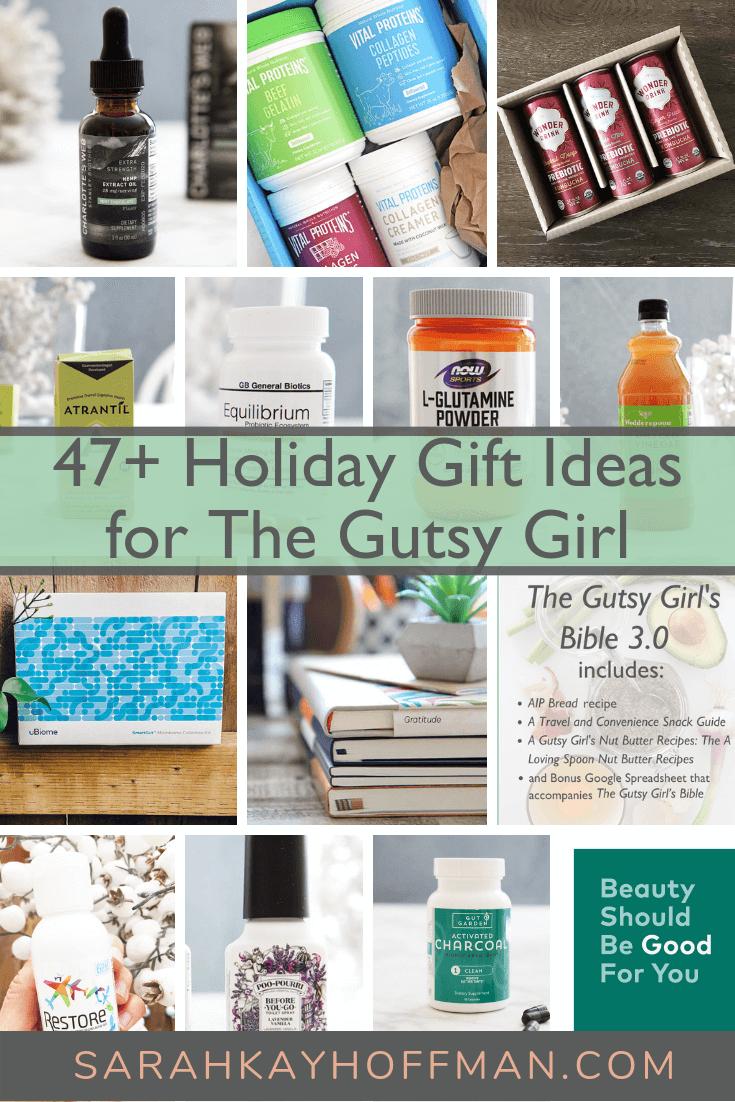 A Gutsy Girl Holiday 2018 Gut Health Wish List www.sarahkayhoffman.com 47 plus more holiday gut health gift ideas #holiday #guthealth #guthealing #holidaygift #gift