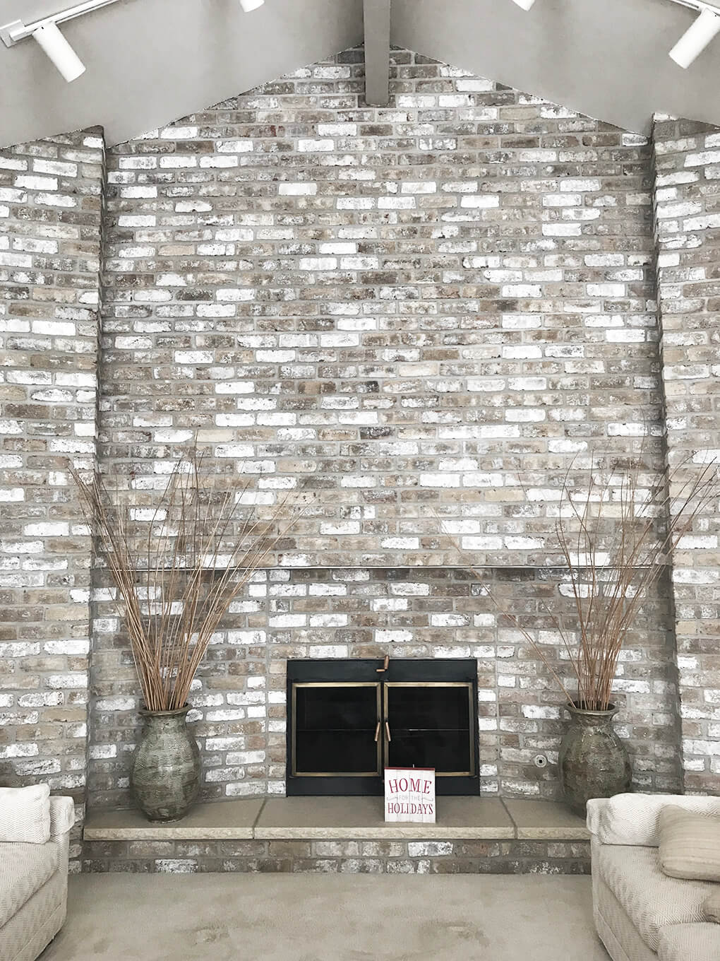 Home www.sarahkayhoffman.com fireplace home for the holidays new house #lifestyleblogger #homedecor