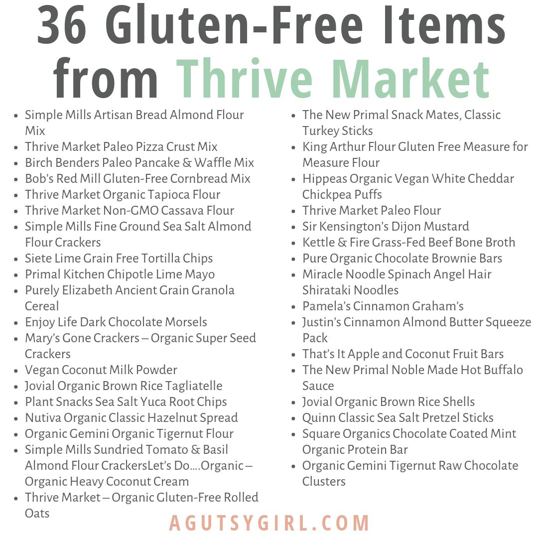 36 Gluten-Free Items from Thrive Market agutsygirl.com #glutenfree #thrivemarket #groceryhaul