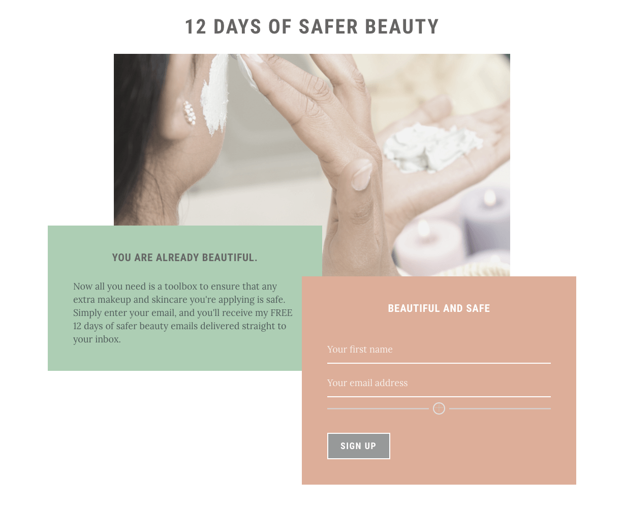 Free 12 Days of Safer Beauty Exploration Journey agutsygirl.com sign up #saferbeauty #skincare #makeup
