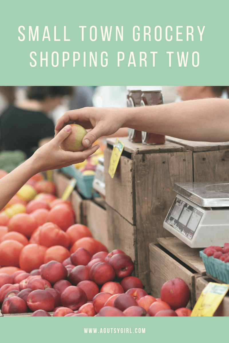 Small Town Grocery Shopping Part Two agutsygirl.com #organic #groceryshopping #healthyliving