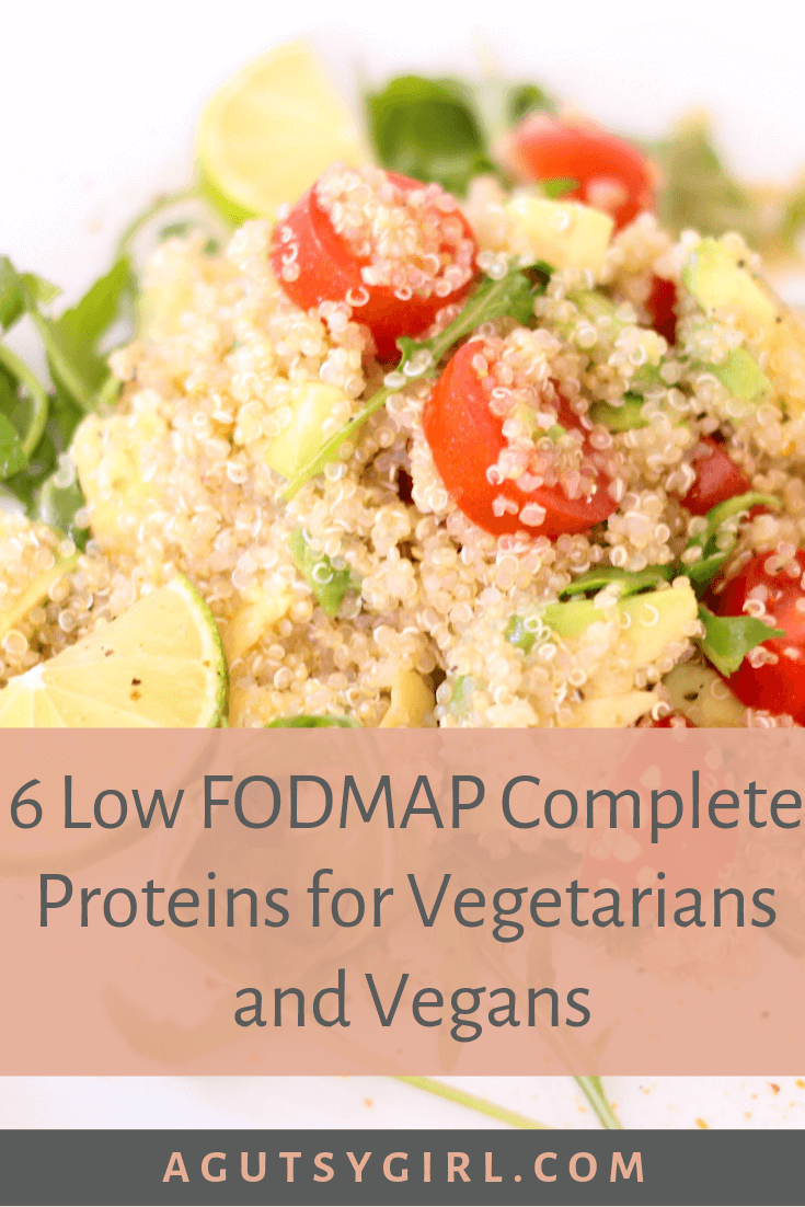 6 Low FODMAP Complete Proteins for Vegetarians and Vegans agutsygirl.com quinoa #vegetarian #vegan #sibo #guthealth #quinoa