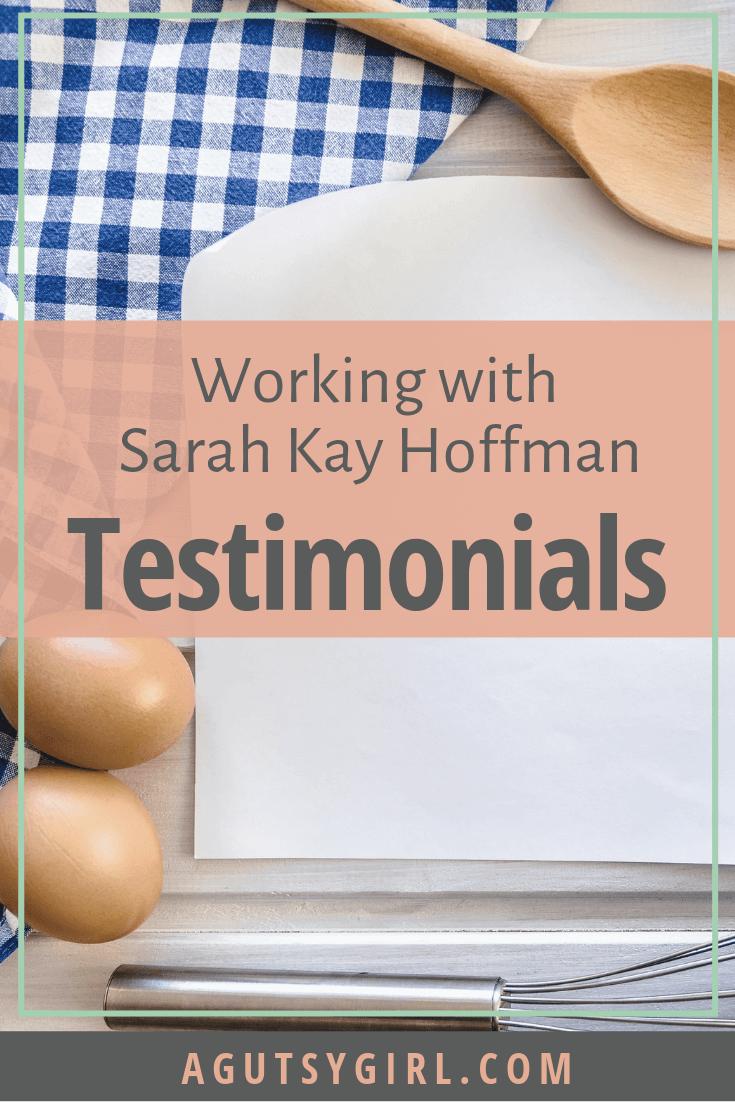 Working with Sarah Kay Hoffman A Gutsy Girl agutsygirl.com #guthealth #guthealing #healthyliving #SIBO