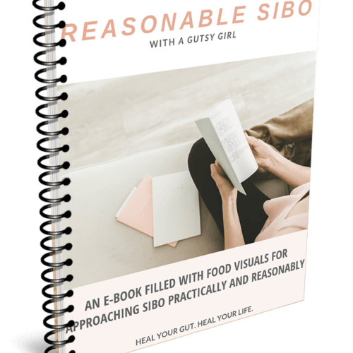 Reasonable SIBO ebook from A Gutsy Girl agutsygirl.com #sibo #guthealth #ebook #guthealing