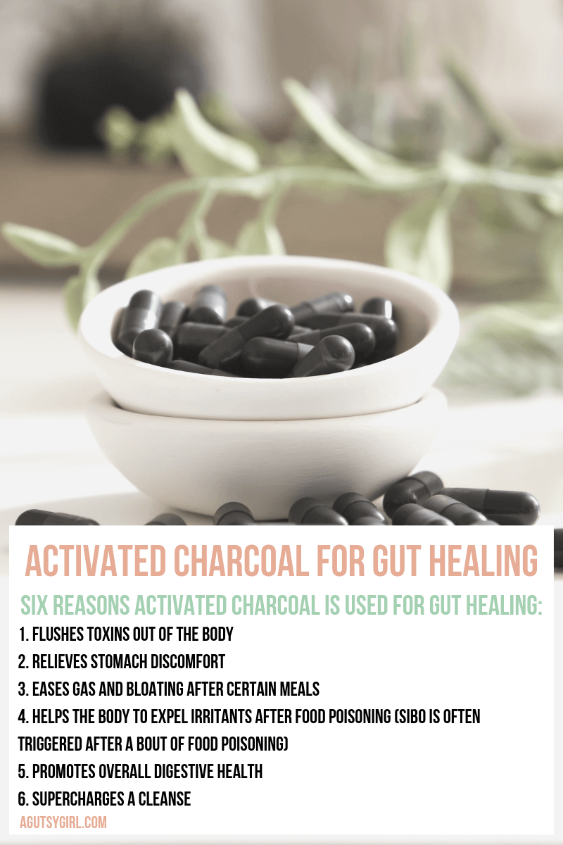 Activated Charcoal for Gut Healing agutsygirl.com Garden #activatedcharcoal #guthealing #detox