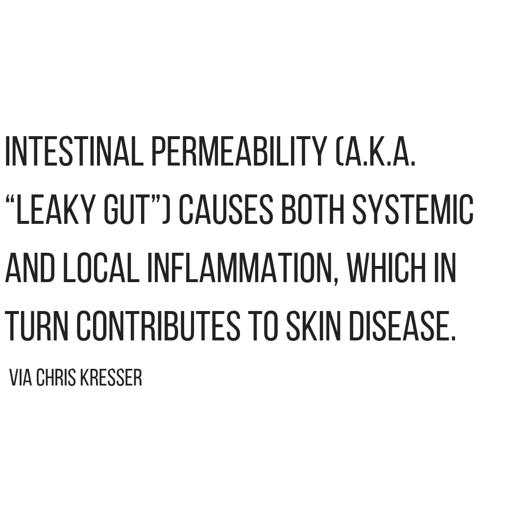 Gut Health and skin 6 Reasons Dry Skin Leads to Breakouts agutsygirl.com #healthyliving #skincare #acne #guthealth