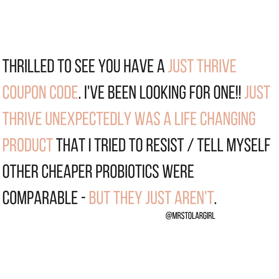Just Thrive Probiotic Testimonial A Gutsy Girl probiotic probiotics #probiotic #supplement #probiotics #guthealth