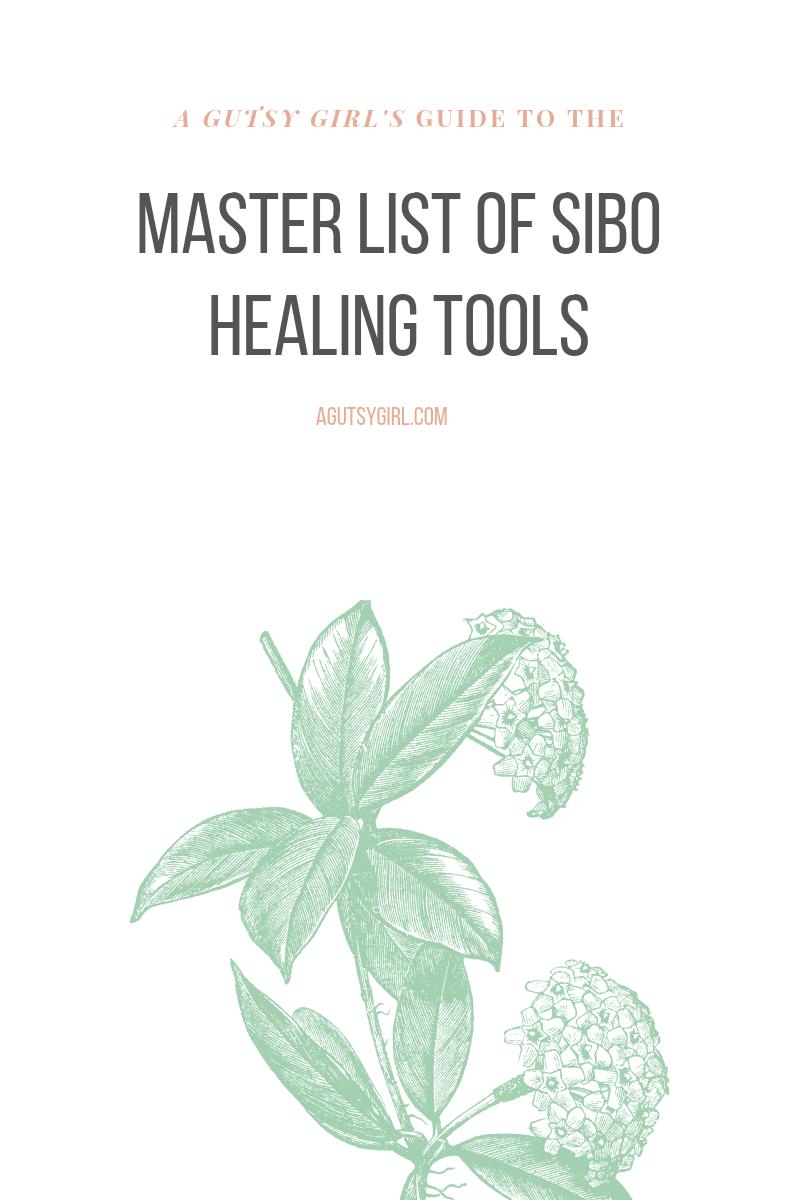 Master List of SIBO Healing Tools agutsygirl.com #sibo #guthealth #healing