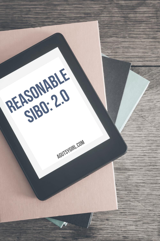 Reasonable SIBO E-Book 2.0 agutsygirl.com #sibo #fodmapdiet #lowfodmap #fodmap A Gutsy Girl