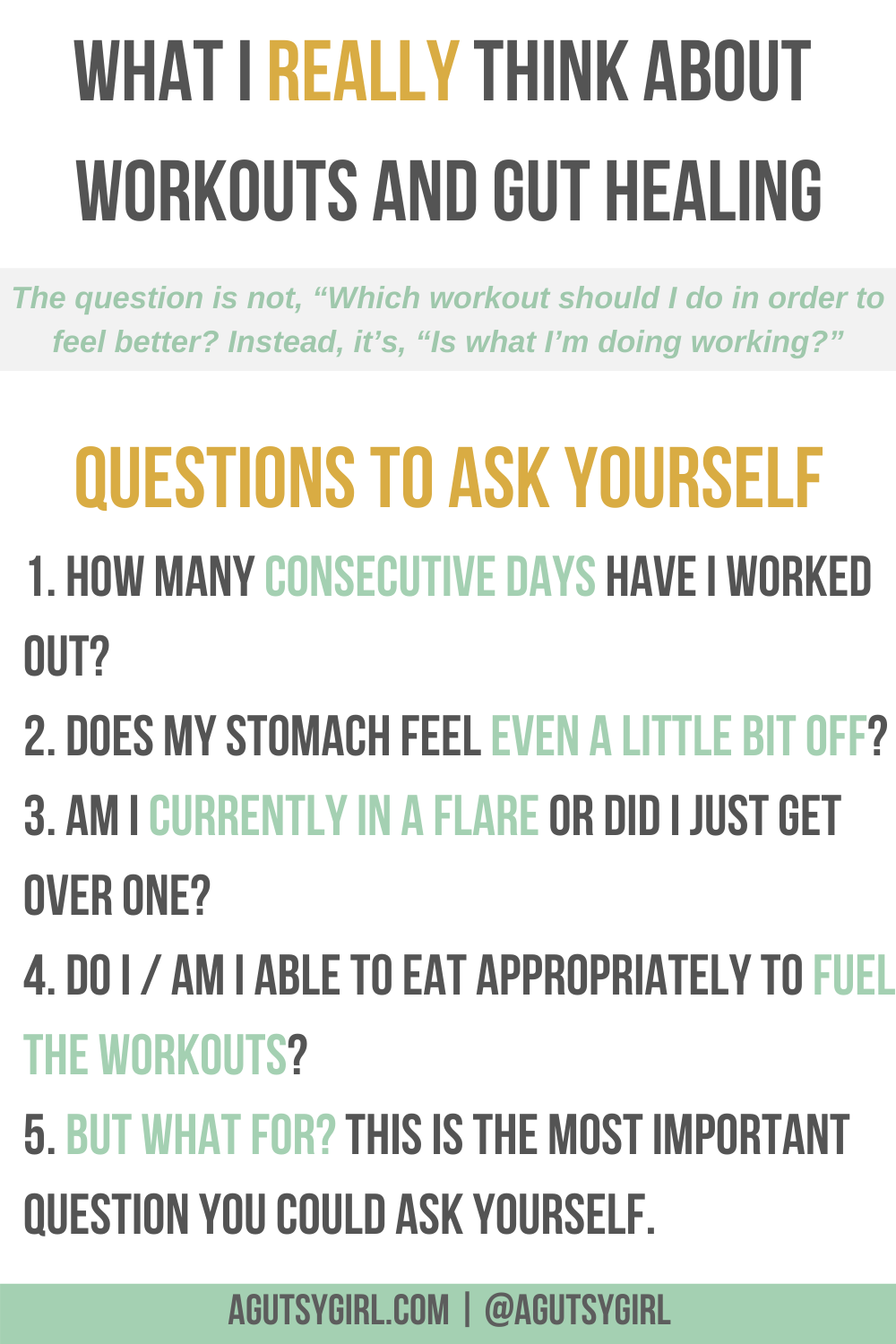 What I Really Think About Workouts and Gut Healing agutsygirl.com questions #agutsygirl #workouts #fitness #guthealth