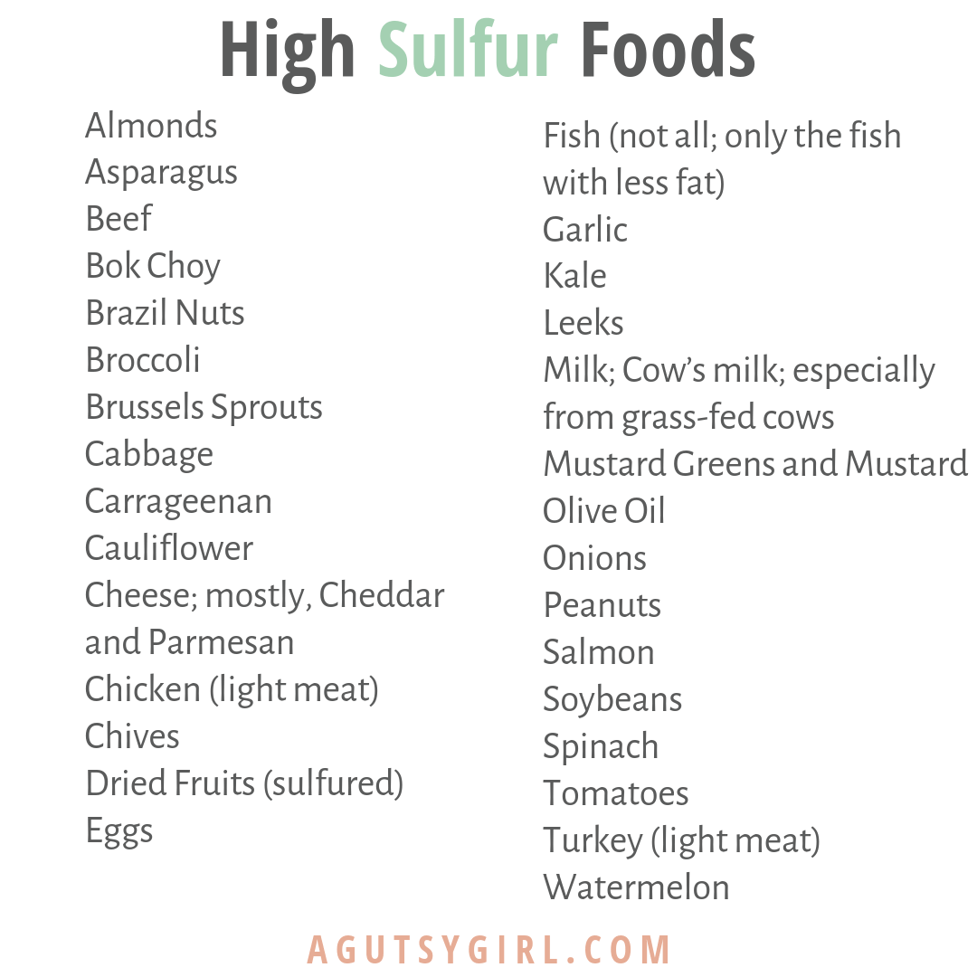 High Sulfer Foods rotten eggs agutsygirl.com ibs #ibs #sibo #sulfer