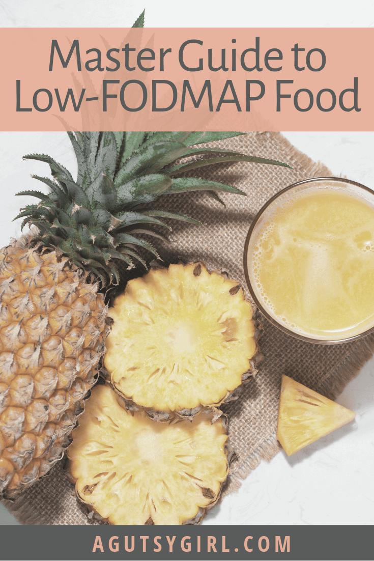 Low-FODMAP Food A Gutsy Girl agutsygirl.com SIBO IBS #lowfodmap #lowfodmapdiet #sibo #ibs Master Guide