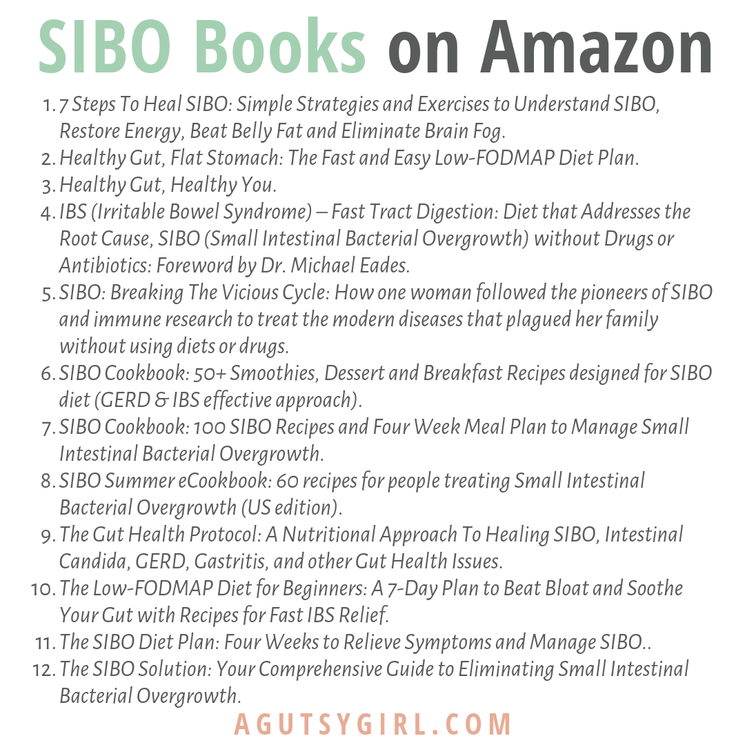 SIBO Books on Amazon agutsygirl.com ibs gut health healing #guthealth #sibo #ibs #amazonbooks