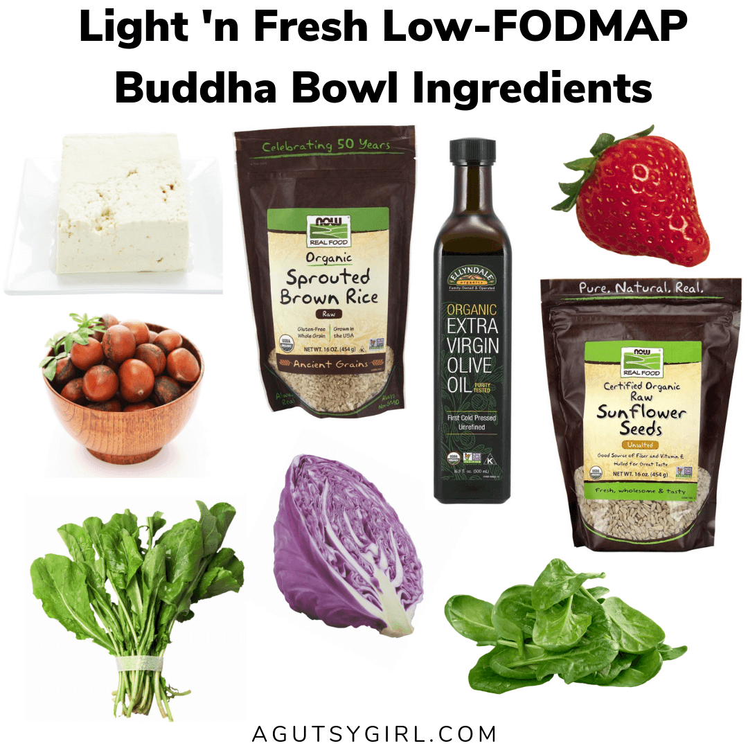 Light 'n Fresh Low-FODMAP Buddha Bowl agutsygirl.com recipe #lowfodmap #guthealing #SIBO #buddhabowl recipes gluten free